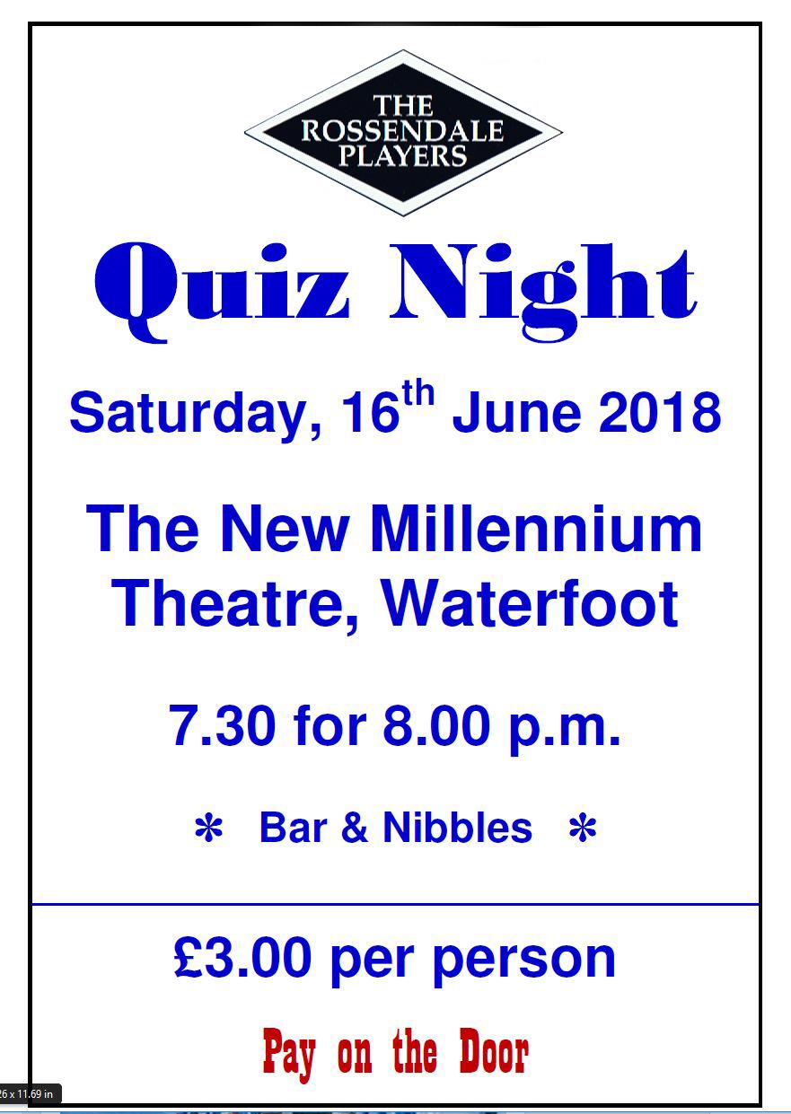 Quiz Night 16th June 2018